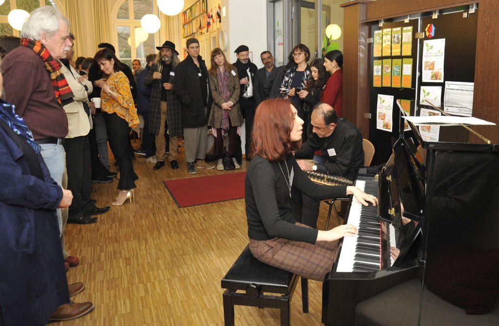 Empfang mit Musik im Café des Mehrgenerationenhaus Nachbarschatz e.V.